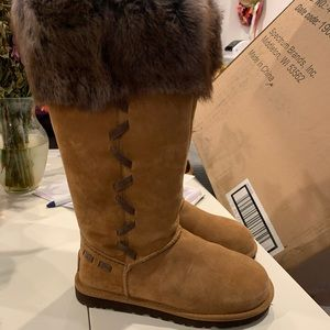 New ugg fur topped boots